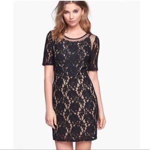ASTR Black Lace Mesh Dress